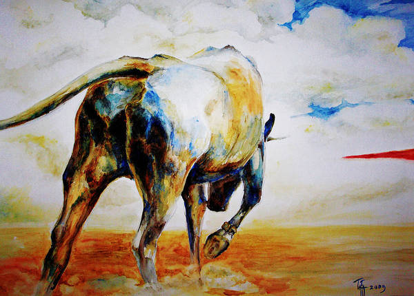 Torro Painting - Bull. by Tatiana Minina