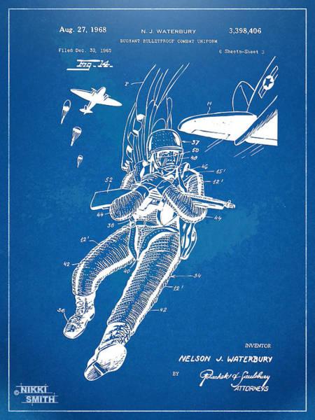 Navy Seal Wall Art - Digital Art - Bulletproof Patent Artwork 1968 Figure 14 by Nikki Marie Smith