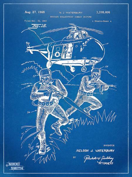 Navy Seal Wall Art - Digital Art - Bulletproof Patent Artwork 1968 Figure 15 by Nikki Marie Smith