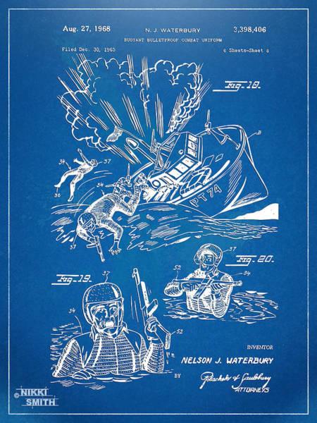 Navy Seal Wall Art - Digital Art - Bulletproof Patent Artwork 1968 Figures 18 To 20 by Nikki Marie Smith