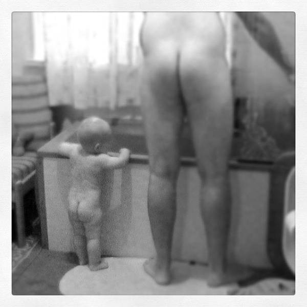 #bum #bottom #nudes Art Print