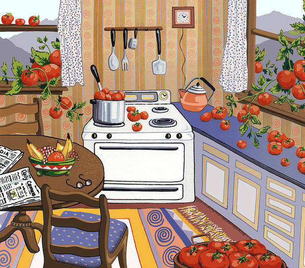 Harvest Wall Art - Painting - Bumper Crop by Anne Gifford