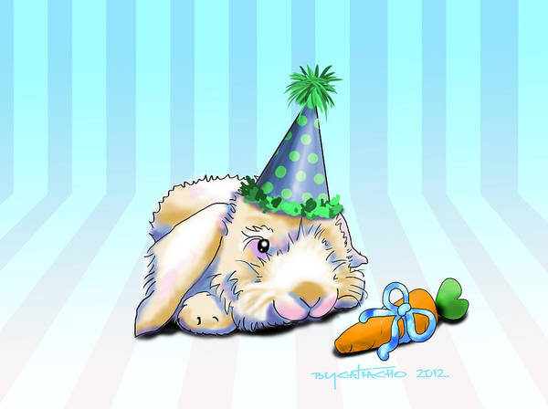 Drawing - Bunny Present by Catia Lee