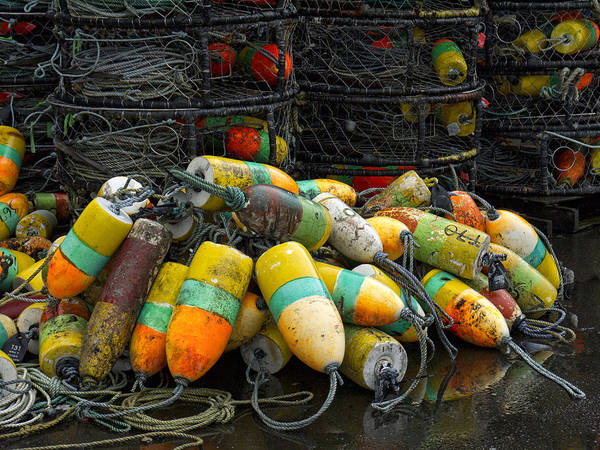 Commercial Photograph - Buoys And Crabpots On The Oregon Coast by Carol Leigh