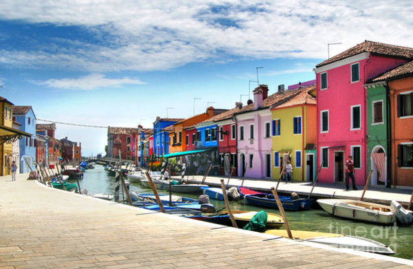 Photograph - Burano Island Canal by Gregory Dyer