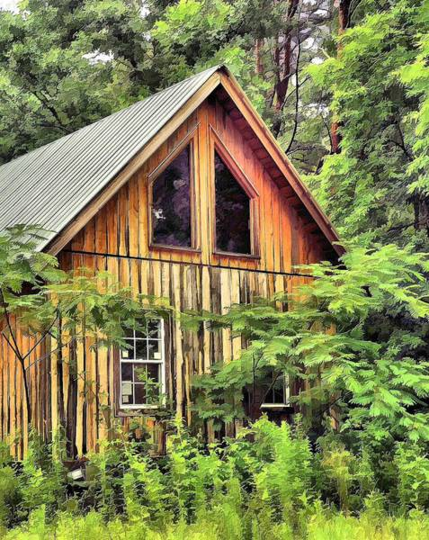 Cabin In The Woods Wall Art - Photograph - Buried In The Woods by Kenneth Mucke
