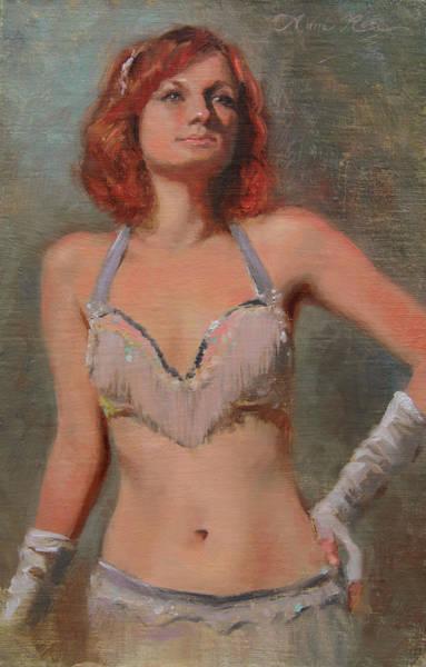 Performer Wall Art - Painting - Burlesque Dancer by Anna Rose Bain