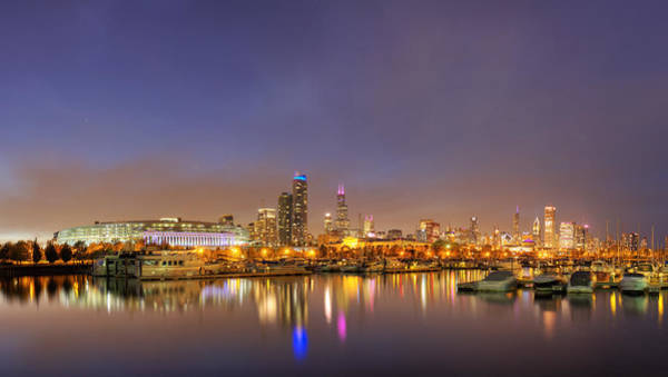 Two Harbors Photograph - Burnham Harbor And Downtown Chicago by Twenty Two North Photography