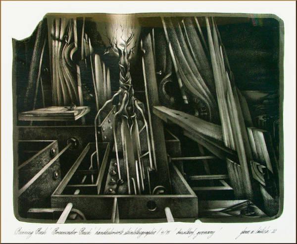 Drawing - Burning Bush 1982 by Glenn Bautista