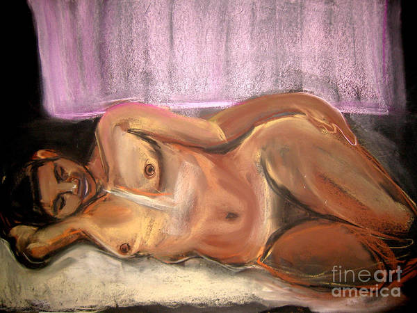 Art Print featuring the drawing Burning Dream by Gabrielle Wilson-Sealy