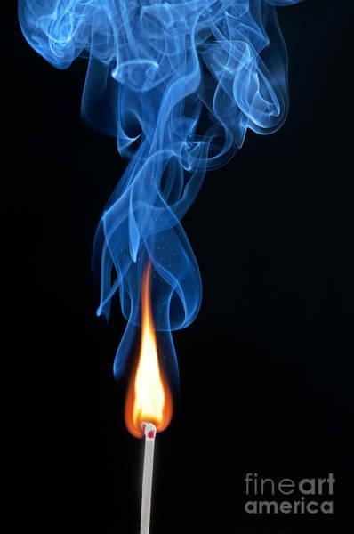 Photograph - Burning Match by Art Whitton