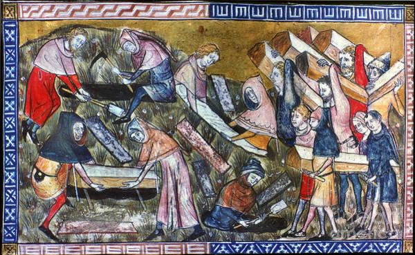 Photograph - Burying Plague Victims by Granger