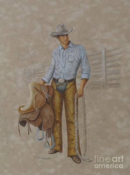 Painting - Busted Bronc Rider by Phyllis Howard