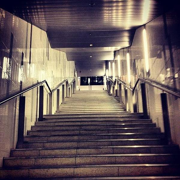 Bus Photograph - Busway Stairs by Darren Frankish