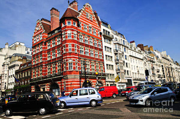 Wall Art - Photograph - Busy Street Corner In London by Elena Elisseeva