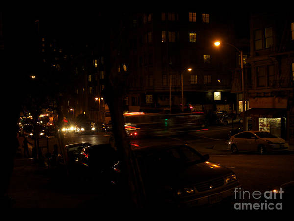 Photograph - Busy Street In San Francisco At Night by Tom Luca