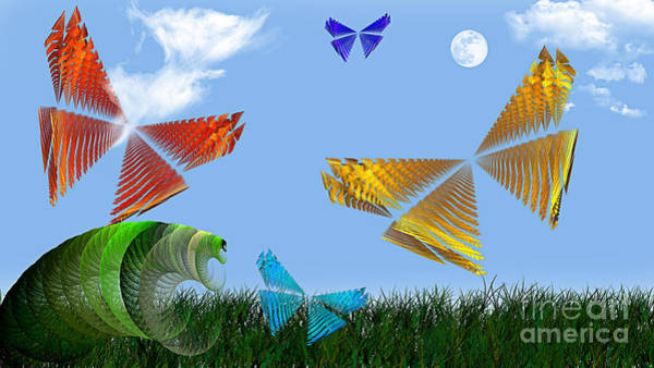 Digital Art - Butterflies Are Free To Fly by Andee Design