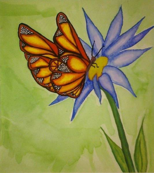 Guache Painting - Butterfly by Anna Duffy