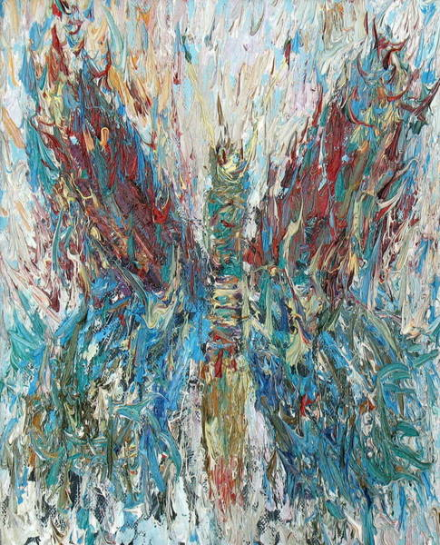 Psychedelic Image Painting - Butterfly Oil Painting by Fabrizio Cassetta