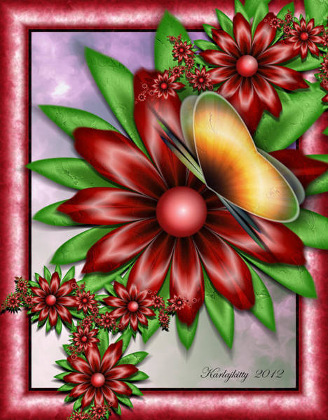 Digital Art - Butterfly's Kiss by Karla White
