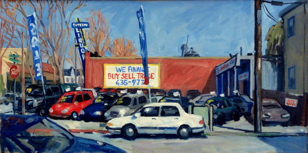 Neighborhood Painting - Buy Sell Trade by Thor Wickstrom