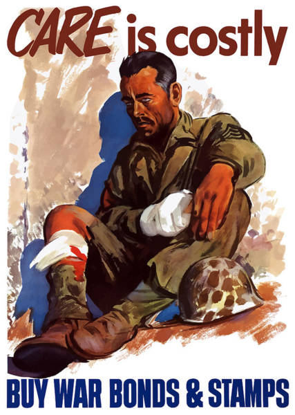 Wounded Soldier Painting - Buy War Bonds And Stamps by War Is Hell Store