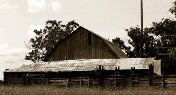 Photograph - Byhalia Road Barn-vintage by Barry Jones