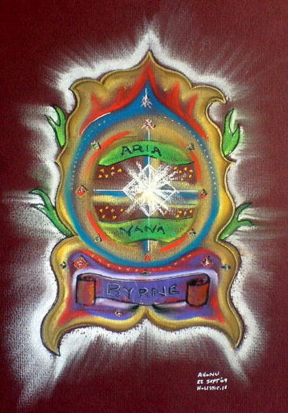 Painting - Byrne Family Crest by Ahonu