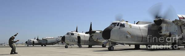 Photograph - C-2a Greyhound Aircraft Start by Stocktrek Images
