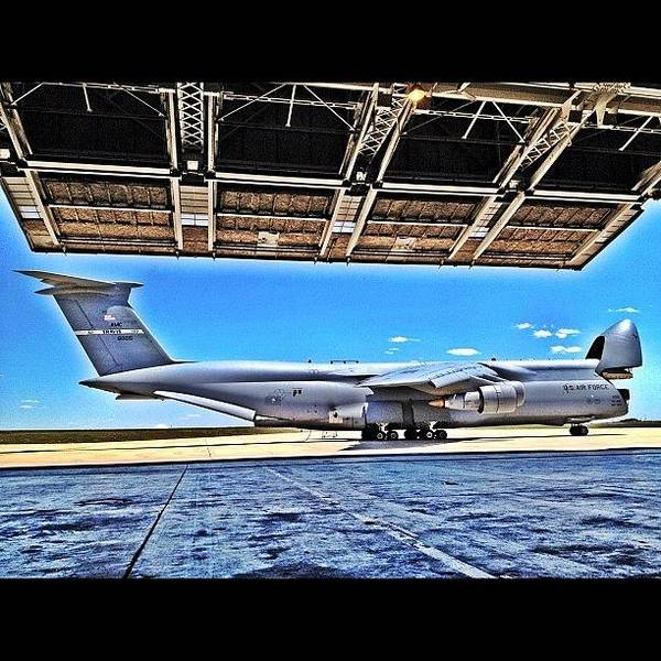 Military Photograph - C-5 Galaxy In Hdr Ready To Eat Some by Wolf Stumpf