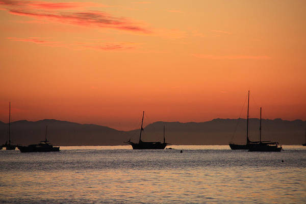 Photograph - Ca Ships At Sunrise by Sheila Kay McIntyre