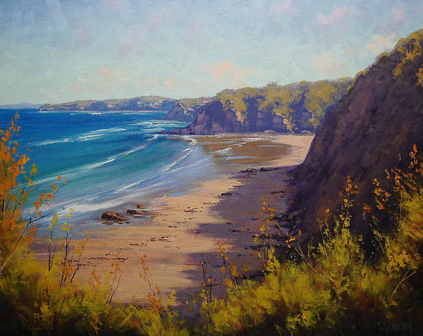 Dunes Painting - Cabbage Tree Bay Nsw by Graham Gercken