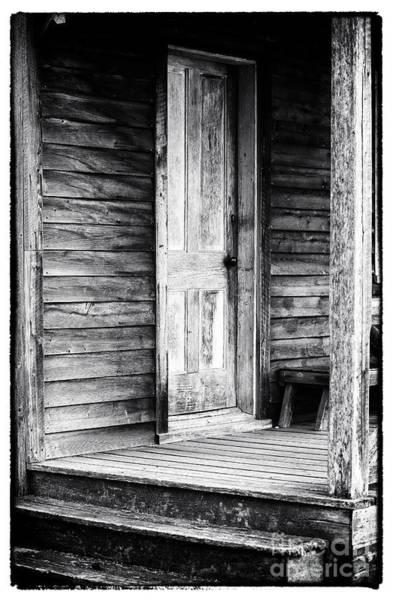 Photograph - Cabin Door by John Rizzuto