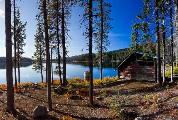 Central Oregon Photograph - Cabin On Elk Lake by Twenty Two North Photography