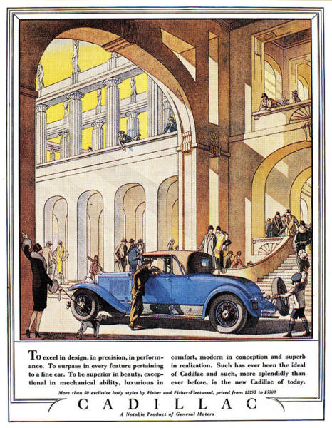 Photograph - Cadillac Ad, 1927 by Granger