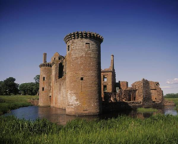 Horizontally Photograph - Caerlaverock Castle, Dumfries, Scotland by The Irish Image Collection