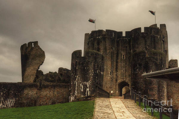 West Wales Photograph - Caerphilly Castle by Rob Hawkins