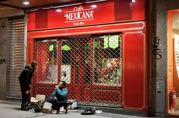 Photograph - Cafe De Mexicana Panhandlers by Lorraine Devon Wilke