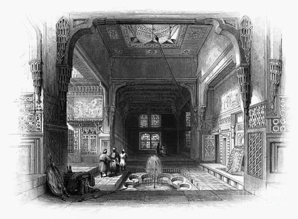 Alabaster Photograph - Cairo: House Interior by Granger