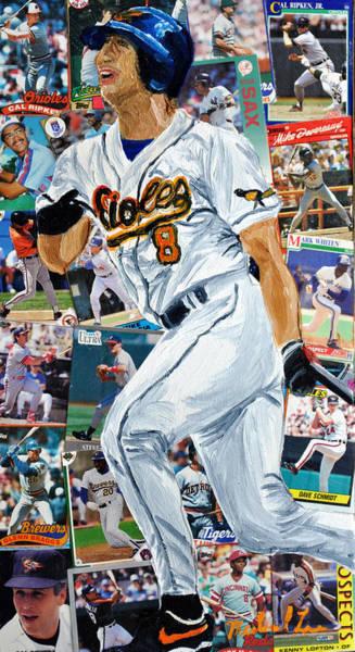 Hitter Painting - Cal Ripkin Jr by Michael Lee