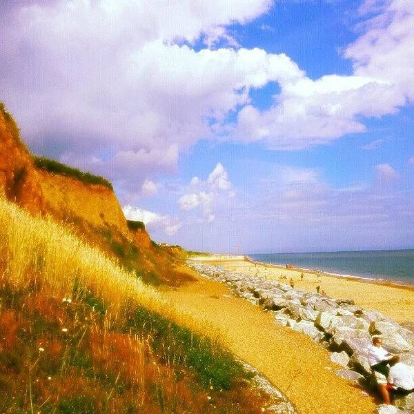 Norfolk Photograph - California Cliffs #beach #sand #rocks by Invisible Man