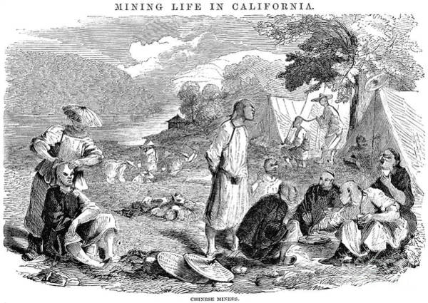 Coolie Photograph - California Gold Rush, 1857 by Granger