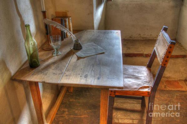 La Purisima Mission Photograph - California Mission La Purisima Desk by Bob Christopher