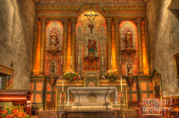 Mission Santa Barbara Photograph - California Mission Santa Barbara Alter by Bob Christopher