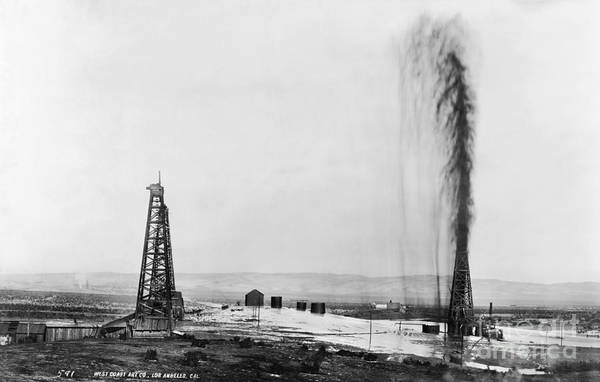 Photograph - California: Oil Well, 1910 by Granger