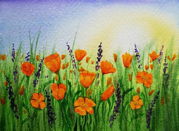 Painting - California Poppies Field by Irina Sztukowski