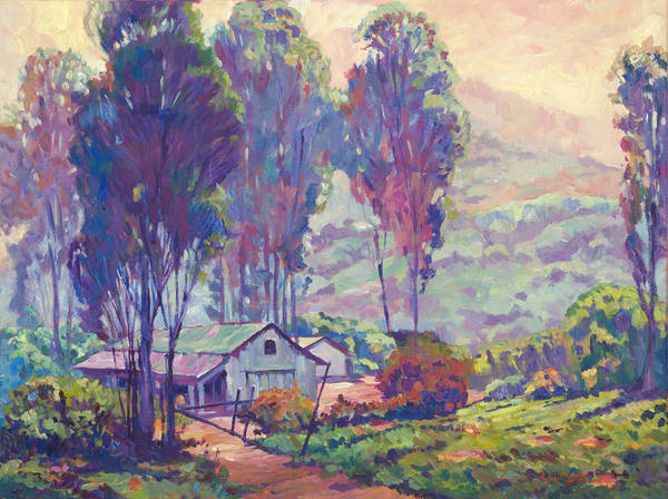 Painting - California Ranch Evening by David Lloyd Glover