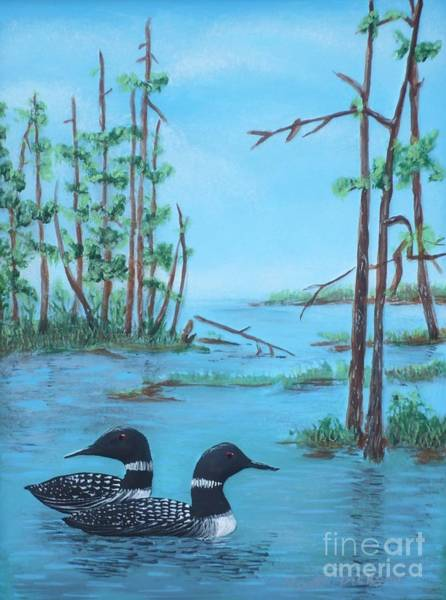 Painting - Call Of The Loons by Monika Shepherdson