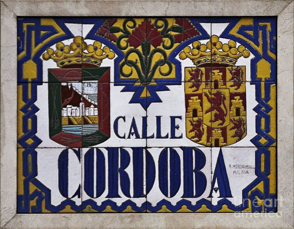 Calle Wall Art - Photograph - Calle Cordoba Street Sign by Mary Machare