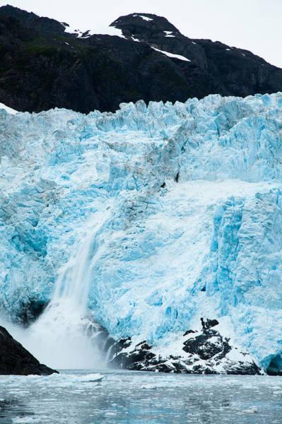 Photograph - Calving Glacier by Adam Pender